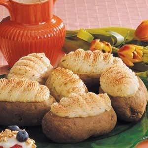 Garlic Twice-Baked Potatoes
