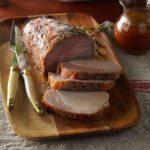 Roast Pork Loin with Thyme-Honey Mustard Sauce