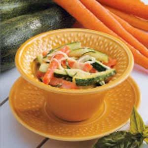Zucchini with Basil Cream