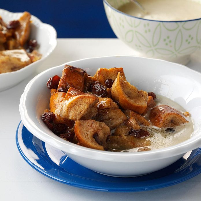 Bagel Bread Pudding with Bourbon Sauce