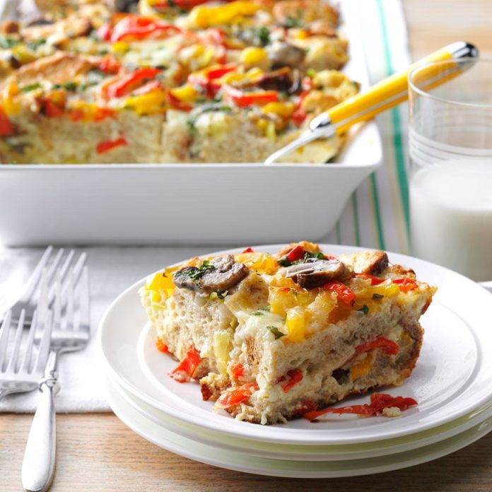 Basil Vegetable Strata