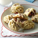 Cranberry Cookies with Browned Butter Glaze