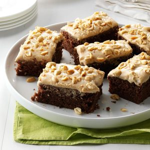 Chocolate-Peanut Butter Sheet Cake