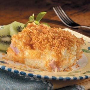 Double-Cheese Ham Souffle