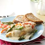 Baked Monterey Chicken with Roasted Veggies