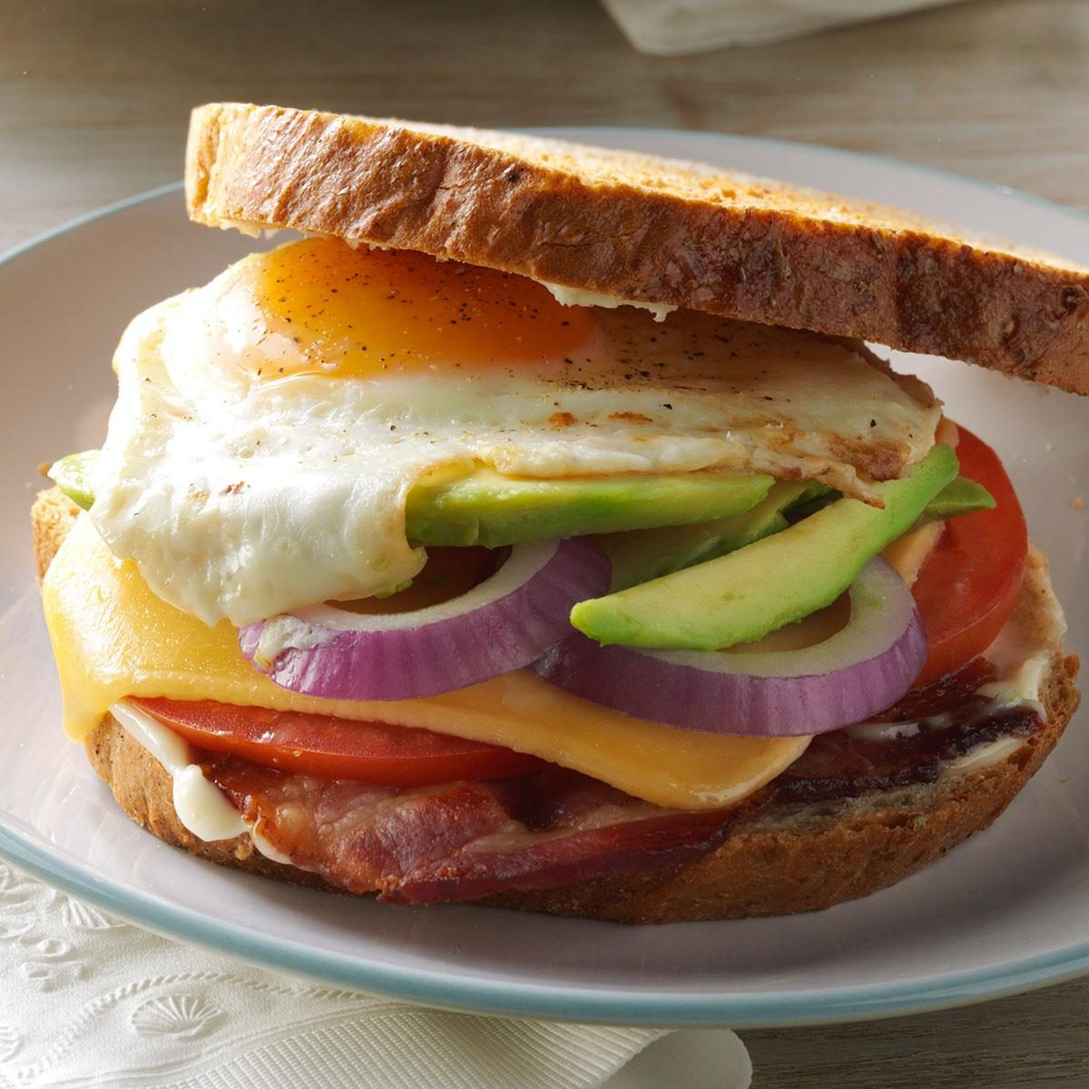 Bacon, Egg & Avocado Sandwiches