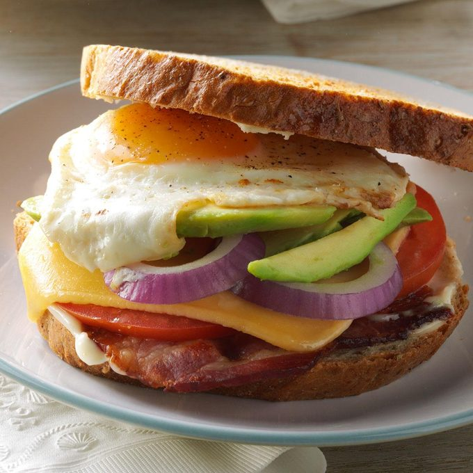 Bacon, Egg & Avocado Sandwiches