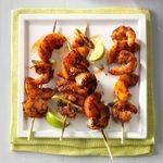 Barbecued Shrimp & Peach Kabobs