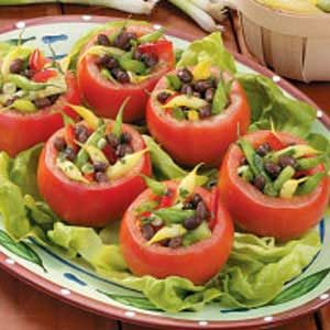 Three-Bean Tomato Cups