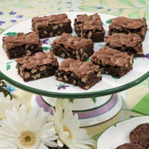 Moist Walnut Brownies