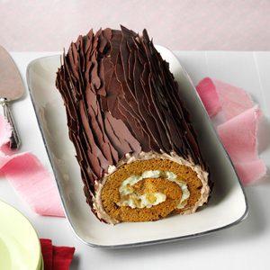 Chocolate Gingerbread Yule Log