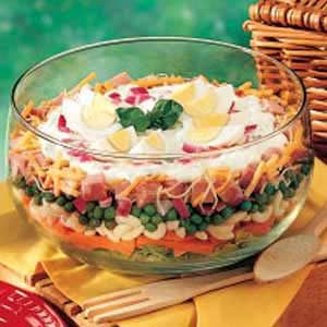 Layered Basil Salad