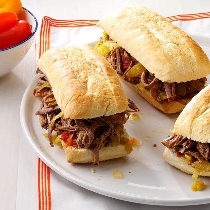 Family-Favorite Italian Beef Sandwiches