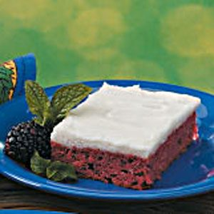 Frosted Blackberry Cake