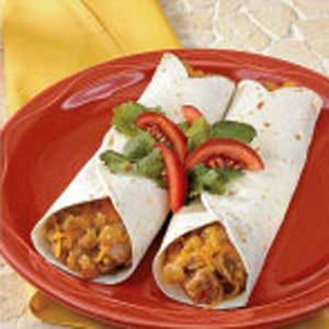 Pork 'N' Green Chili Tortillas