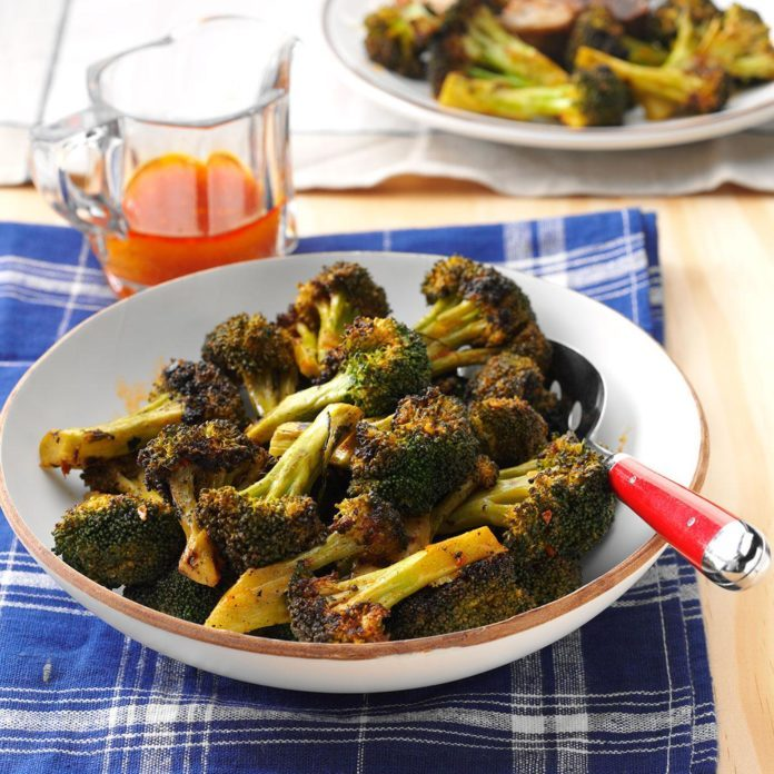 Spicy Grilled Broccoli
