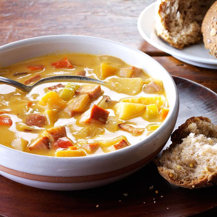 Ham & Potato-Rutabaga Chowder