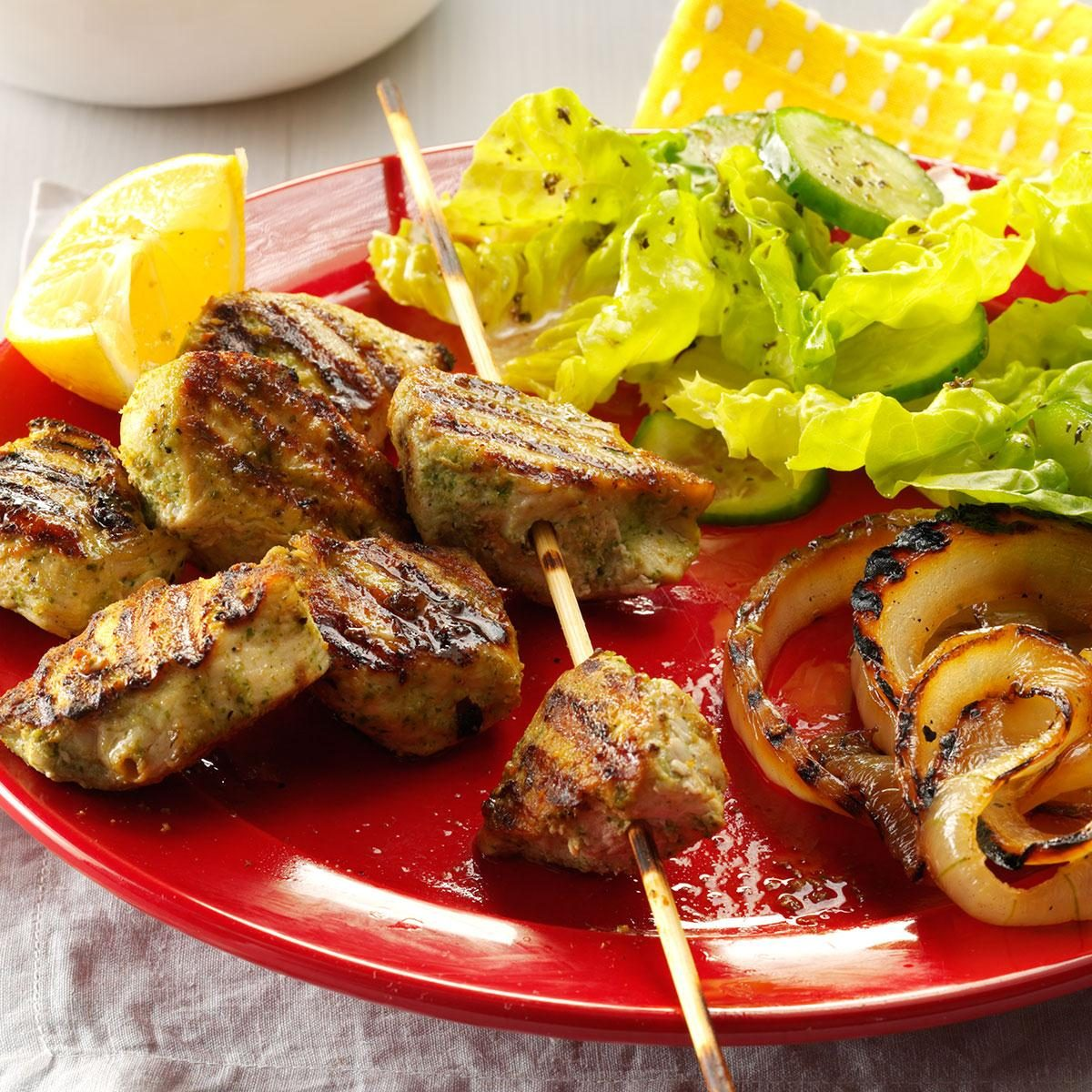Cilantro & Lemon Marinated Chicken Kabobs