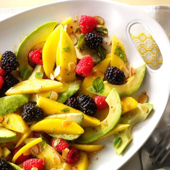 Avocado Fruit Salad with Tangerine Vinaigrette