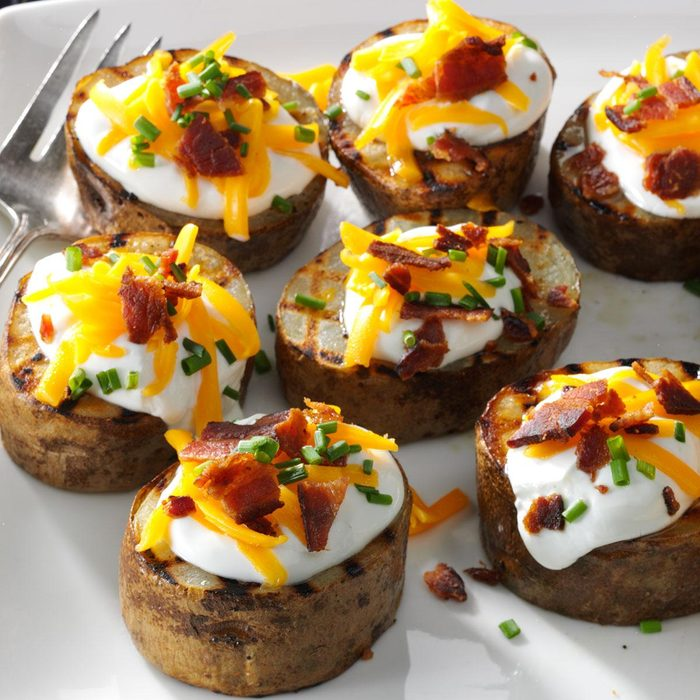 Grilled Loaded Potato Rounds
