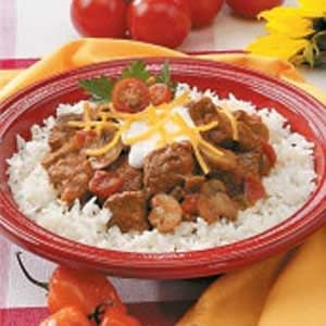 Mexican Beef and Mushrooms