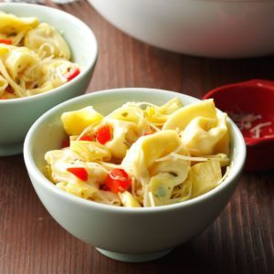 Tortellini Salad with Artichokes & Sweet Peppers