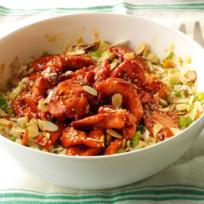 Asian Barbecue Chicken Slaw