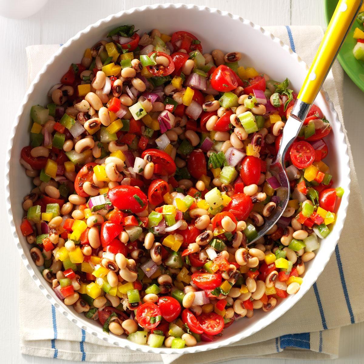 vibrant blackeyed pea salad recipe  taste of home
