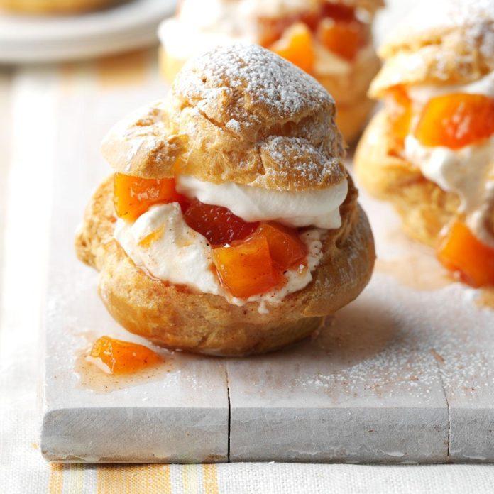 Peach Cream Puffs