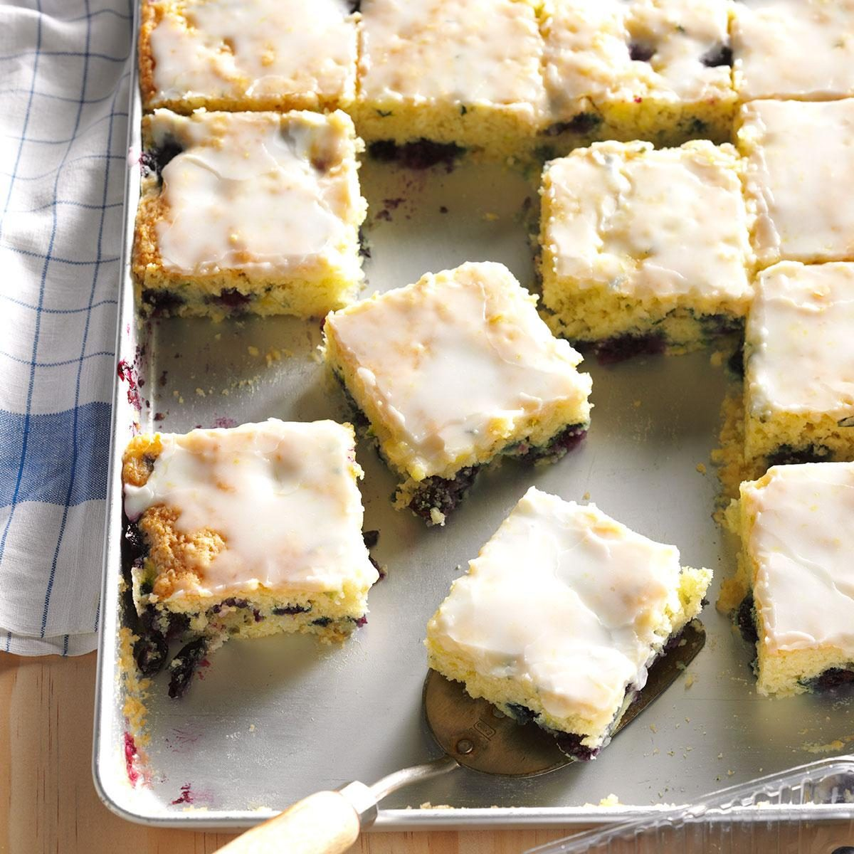 Blueberry Zucchini Squares Recipe Taste Of Home