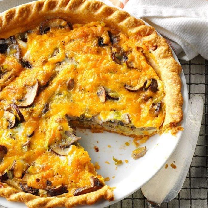 Spring: Mushroom & Leek Pie