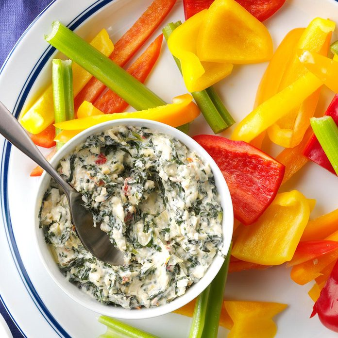Party-Ready Easter Buffet: Sun-Dried Tomato Spinach-Artichoke Dip