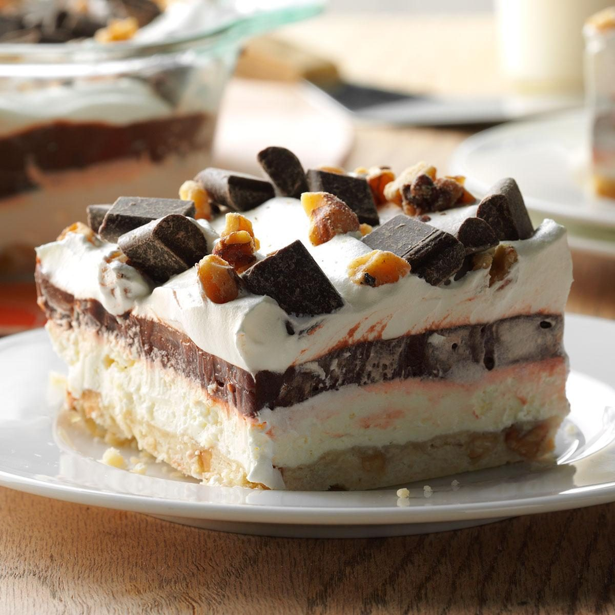 Easy Four-Layer Chocolate Dessert Recipe | Taste of Home