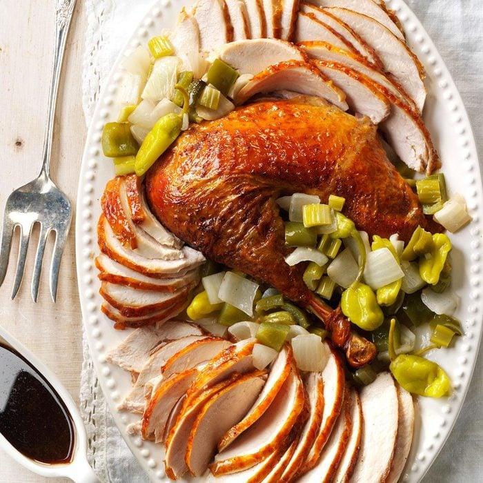 Creole Roasted Turkey with Holy Trinity Stuffing