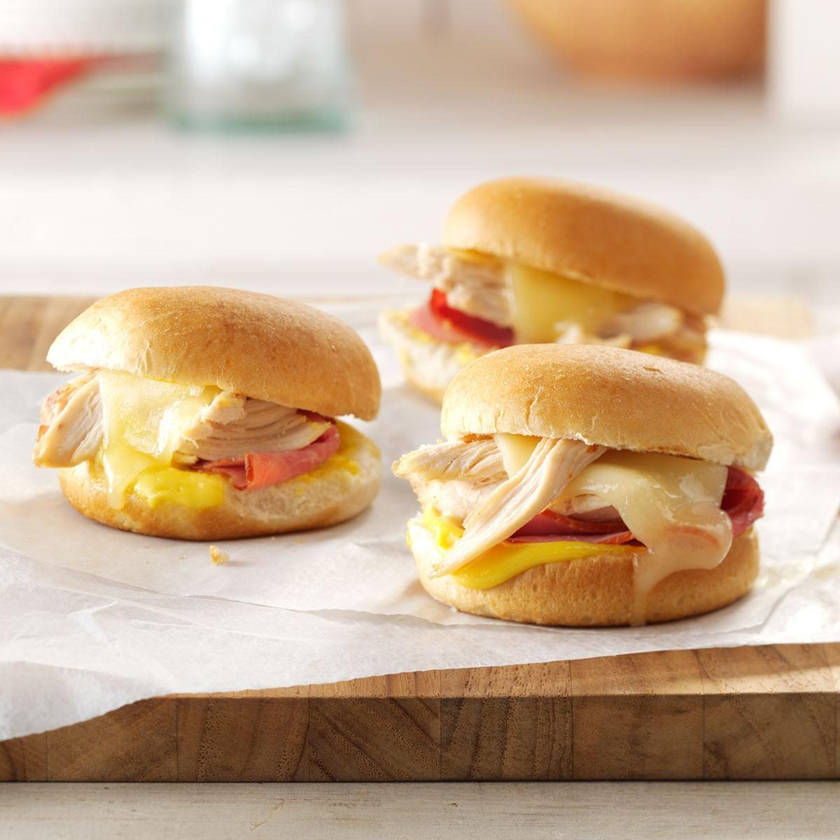 Swiss Chicken Sliders