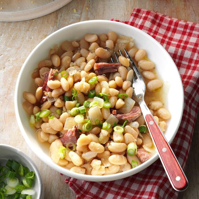 Smoky White Beans & Ham