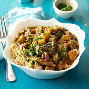 Curried Lamb and Potatoes