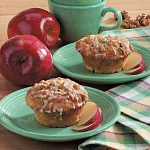 Glazed Apple Streusel Muffins
