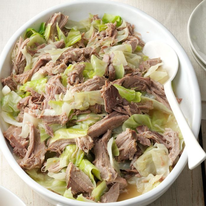 Slow-Cooker Kalua Pork & Cabbage