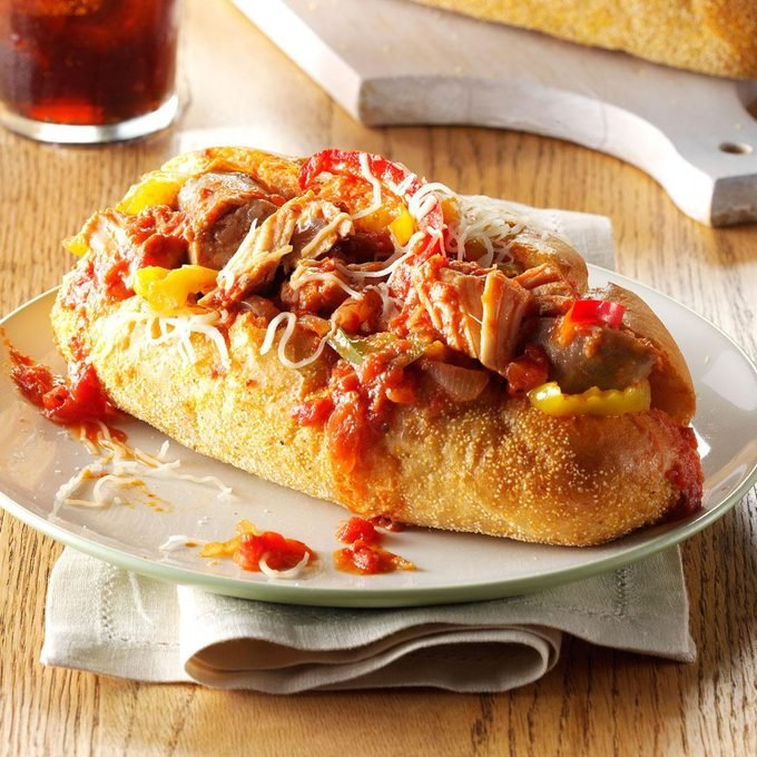 Slow Cooker Sausage Sandwiches