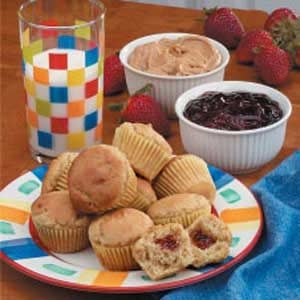 Peanut Butter 'n' Jelly Mini Muffins