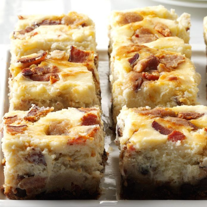 Bacon Chocolate Chip Cheesecake Blondies