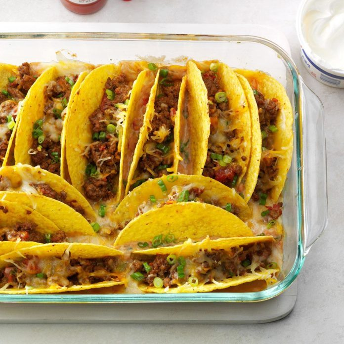 Baked Beef Tacos