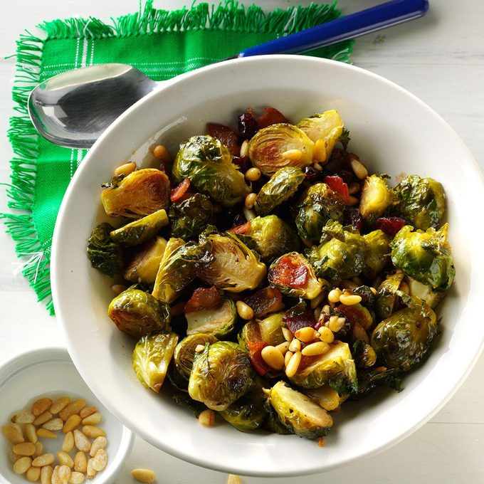 Roasted Balsamic Brussels Sprouts with Pancetta