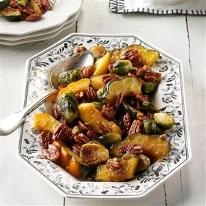 Roasted Acorn Squash & Brussels Sprouts