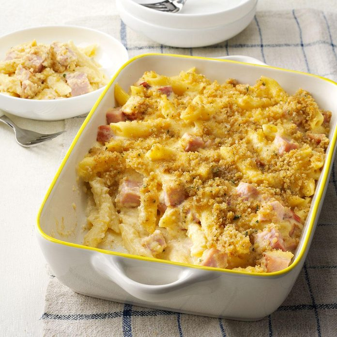 Day 13: Ham & Swiss Baked Penne