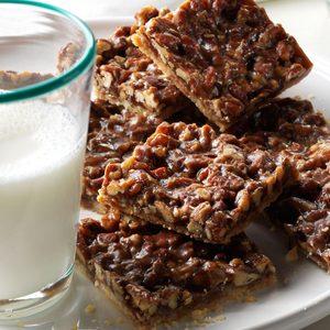 Salted Pecan Shortbread Squares