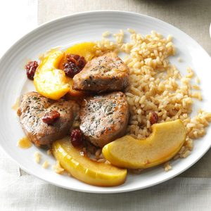 Apple-Cherry Pork Medallions