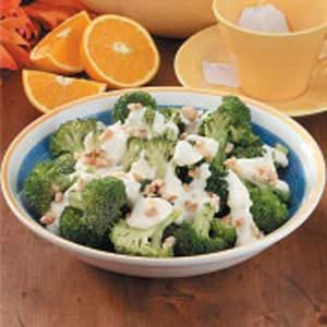 Broccoli With Orange Cream