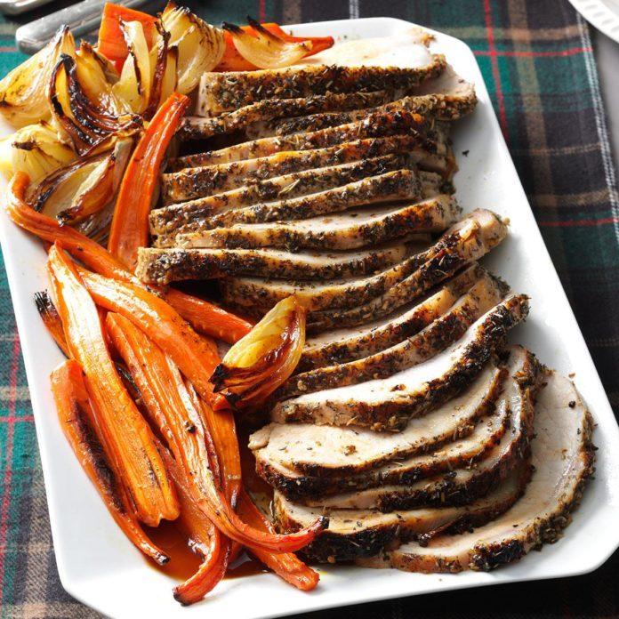 November: Italian Herb-Crusted Pork Loin